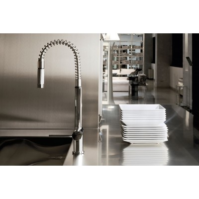 Gessi Kitchen Oxygene Mixers sink mixer with swivelling spout 00909