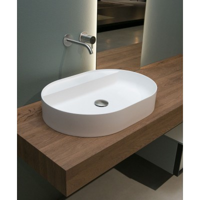 Antonio Lupi Simplo oval top mount sink SIMPLOVALE