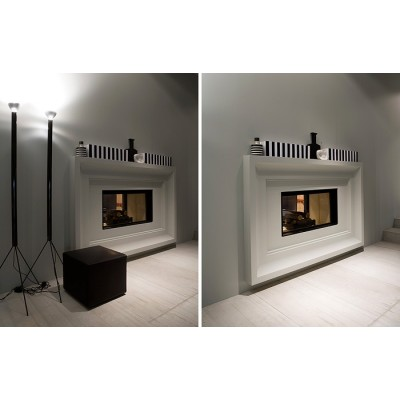 Antonio Lupi Filoskema thermo double faced wood burning fireplace FILOSKEMAB100