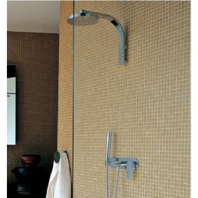 Flaminia One complete wall mounted rain head with mixer and handshower 112550