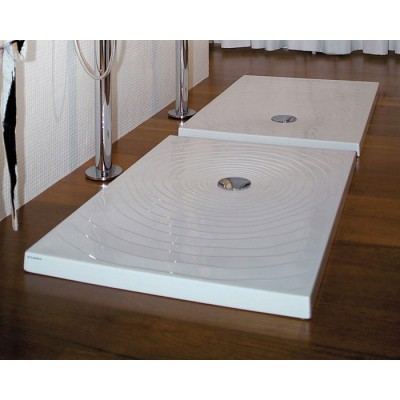 Flaminia Water Drop Shower Tray in ceramic DR120