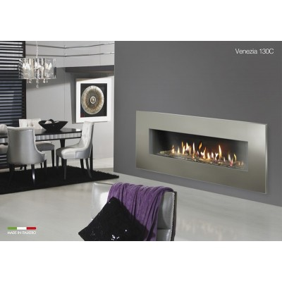 Italkero Venezia 130C Single side Gas Fireplace With Frame IN13AMC