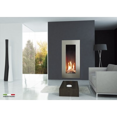 Italkero Roma 50C Single Side Whit Frame Gas Fireplace IN05AMC