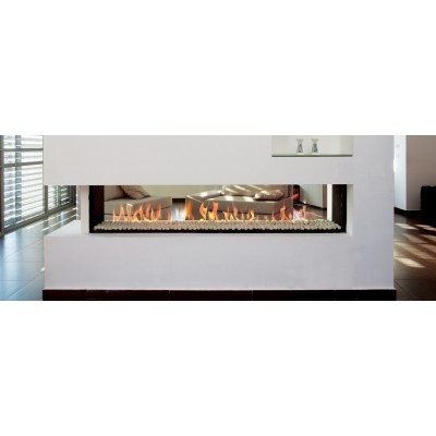 Fireplaces British Fire Linea Tunnel 150 Gas Fireplace GLIN150TXTX