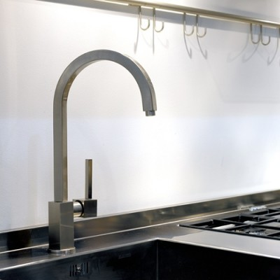 Gessi Kitchen Quadro Mixers sink mixer with swivelling spout 16773