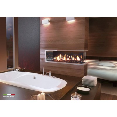 Italkero Venezia 130P Peninsula Frameless Gas Fireplace IN13AP