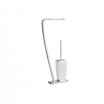 Gessi Mimi Freestanding Set whit Paper Roll Holder and Brush Holder 33334_031_CR