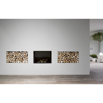 Antonio Lupi Filoskema thermo wood burning fireplace FILOSKEMA75 L.75.8