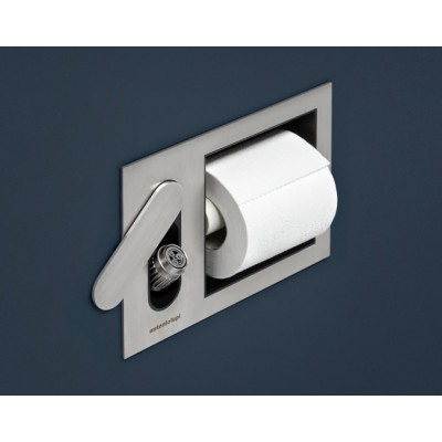 Antonio Lupi CartaIntenso Paper Built-In Wall Roll Holder and Hydroscope CARTAINTENSO