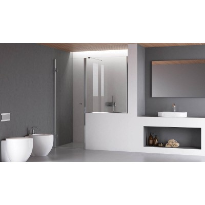 Calibe Thiana Shower Enclosure whit door+above the wall 799TNA+600MUR