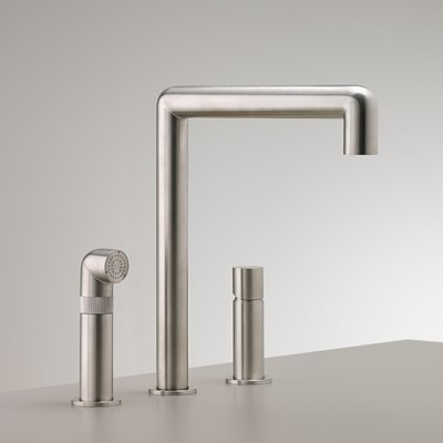Cea Design Cartesio Three-hole tap with swivelling spout CAR08S