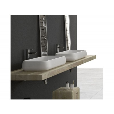 Cielo Shui rectangular on top sink SHLAA80