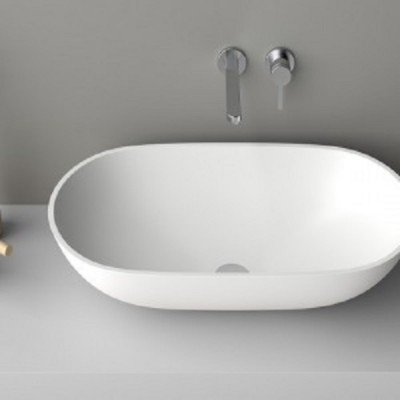 Planit Concave Washbasins countertop washbasin in Corian CONCAVE2