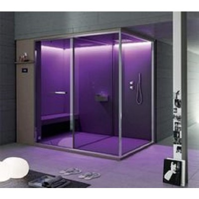 HAFRO ETHOS SERIES SAUNA+SHOWER SPACE 252X150XH.215 CORNER/WALL VERSION SX
