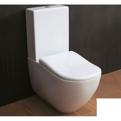 Cielo Fluid Sanitary monobloc wc with toilet seat FLVM+CPVFLT