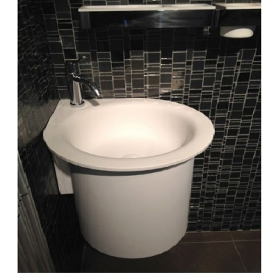 Agape In-Out semi-recessed circular sink without holes ACER1061SZ