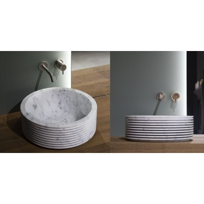 Antonio Lupi Introverso rectagular round top mount sink INTROVERSO45