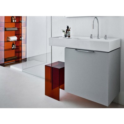 Kartell by Laufen white on top sink with left shelf 8.1033.9.000