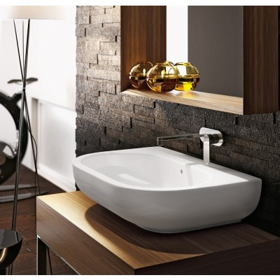 Flaminia Pass 62 bench-wall-hung sink in ceramic PS62L