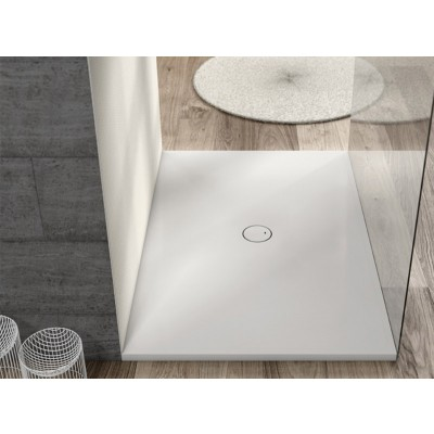 Planit Piazza Corian angular shower tray selectable size PIAZZA2