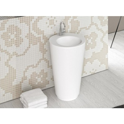 Planit Trench pedestal sink in Corian TRENCH