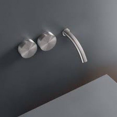 Cea Design Giotto Wall mounted set of 2 individual taps GIO10S + recessed part PTR01