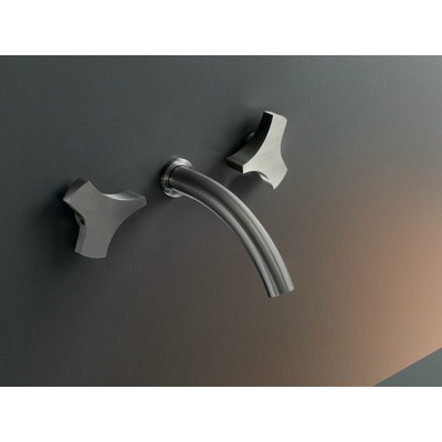 Cea Design Ziq Wall mounted set of 2 individual taps with spout ZIQ07S