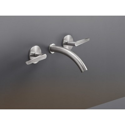 Cea Design Flag Wall mounted set of 2 individual taps with spout  FLG09S + built - in part PTR02