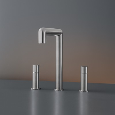 Cea Design Cartesio Three-hole tap with swivelling spout CAR24S