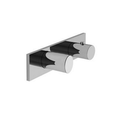 Fantini Milano built-in thermostatic shower tap 7331B+D231A