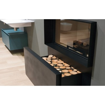 Antonio Lupi Skemabox thermo wood burning fireplace SKEMABOX
