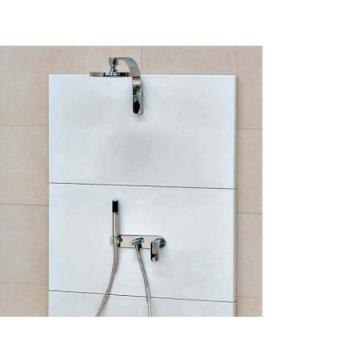 Flaminia Plate One wall mounted rain head with mixer and handshower 112590