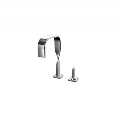 Ritmonio Nastro two holes Single lever basin mixer U0BA8001CRL