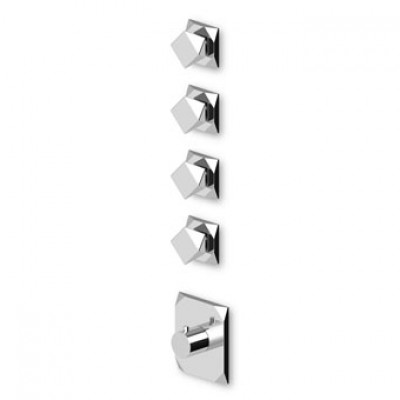 "Zucchetti Wosh 3/4"" built-in thermostatic shower tap ZW5097+R99793"