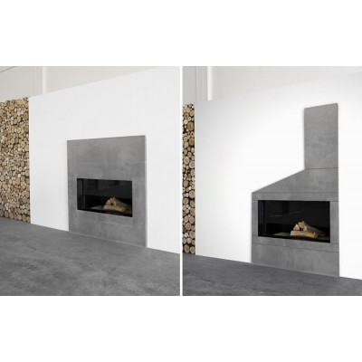 Antonio Lupi Filoskema wood burning fireplace FILOSKEMA100 L.100.8