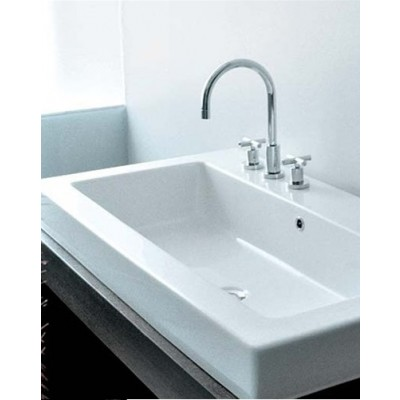 Flaminia Acquagrande bench-wall hung sink 5051/INC