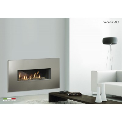 Italkero Venezia 90C Single side Gas Fireplace With Frame IN09AMC