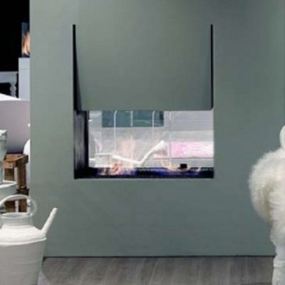 Antonio Lupi Canto Del Fuoco double faced fireplace H.144 .CANTOBC144