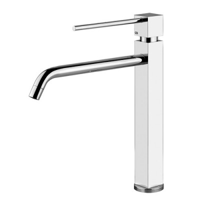 Gessi Kitchen Quadro Mixers sink mixer with swivelling body 16701