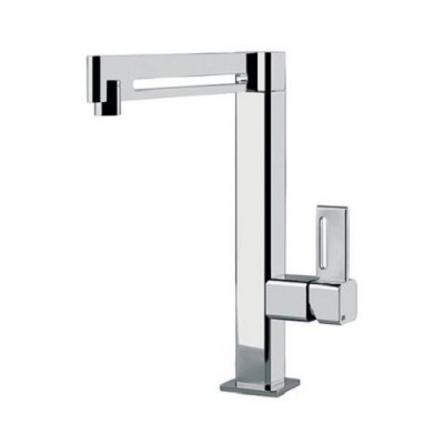 Gessi Kitchen Rettangolo Mixers sink mixer with swivelling spout 17013