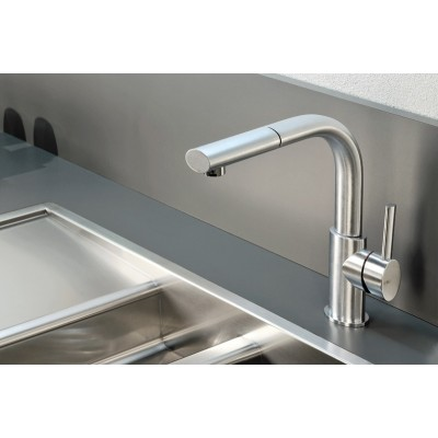 Gessi Kitchen Ovale Mixers sink mixer with swivelling spout 26023