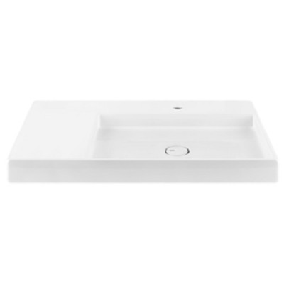 Gessi Rettangolo suspended or counter-top sink 37531