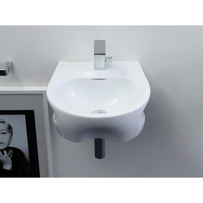 Flaminia Void 44 bench-wall hung sink in ceramic VD44L