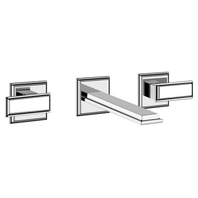 Gessi Eleganza Three-hole Sink Tap + Built-in Part 46090+45089