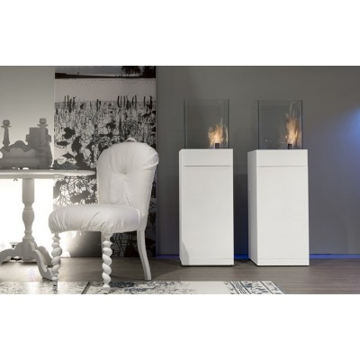 Antonio Lupi fireplace Babele Series bioethanol fireplace with steel structure AISI 304 Cod.BABELE131+LAFLACA
