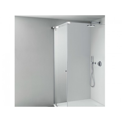Boffi Tape Shower Cabinet at an angle with a door QBT1808F