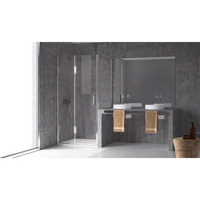 Calibe Thiesi Shower Enclosure with door+above the wall 750CHA