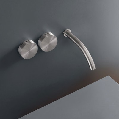 Cea Design Giotto Wall mounted dual handle tap with spout GIO11S + recessed part PTR01