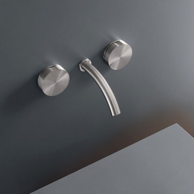 Cea Design Giotto Wall mounted dual handle tap with spout GIO13S + recessed part PTR02