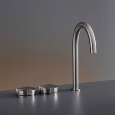 Cea Design Giotto Three-hole tap with swivelling spout GIO16S